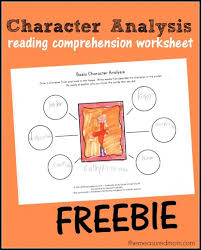 free character ysis worksheet for kids