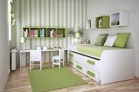 office space saving ideas. Fantastic Bedroom And Study Space For Teenage With Green White Color Combination Office Saving Ideas H