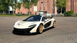mclaren p1 black and white. mso white with gold wheels mclaren p1 black and