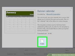Create A Calendar Template How To Make A Calendar In Word With Pictures Wikihow