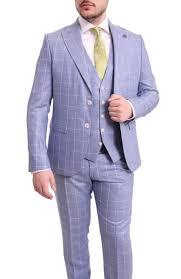 Light Blue Windowpane Suit Details About Cemden Slim Fit Light Blue Windowpane Plaid Two Button Three Piece Suit