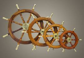 valuable ship wheel wall decor awesome captains boat steering hampton nautical deluxe cl wood and br
