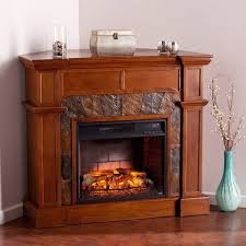 harper blvd hollandale oak corner convertible faux stone infrared fireplace