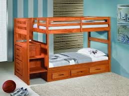Image of: Rustic Bunk Beds With Stairs And Storage