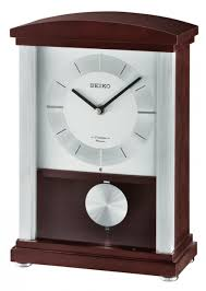 seiko contemporary wooden al mantel clock gsk4988