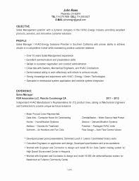 Hvac Resume Updated Hvac Resume Samples Fresh Hvac Engineer Sample