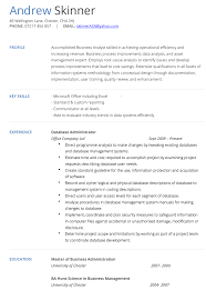 Database Analyst Cv Example | Hashtag Cv