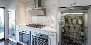 under cabinet glass front refrigerators