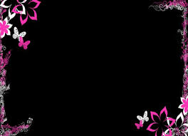 Cool Backgrounds For Ppt Cool Dark Purple Flower Border Backgrounds For Powerpoint