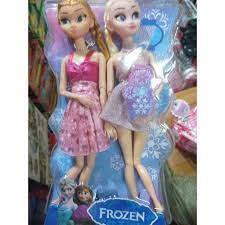 Giá bán Cặp búp bê FROZEN Anna và Elsa 11 khớp nối