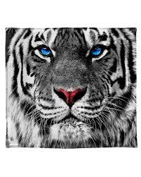 white tiger. Plain Tiger White Tiger Blanket Blanket2 With K