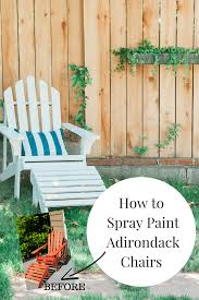 this post will show you how i repaired and spray painted wooden adirondack chairs including