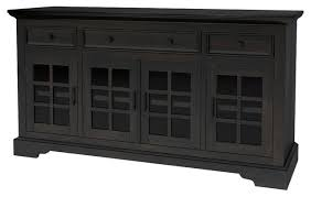tirana rustic solid wood glass door 3 drawer large sideboard cabinet traditional buffets and sideboards by sierra living concepts