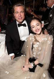 Brad Pitt and Julia Butters at the 2020 Golden Globes