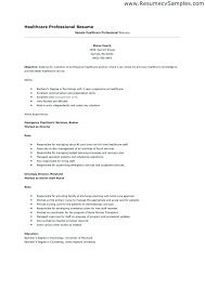 healthcare resume sample resume template healthcare professional resume sample resumes and
