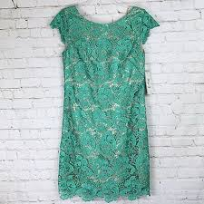 Eliza J Lace Cap Sleeve Shift Dress Size 16 125 00
