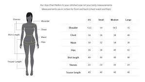 Asim Jofa Size Chart