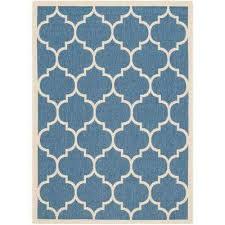courtyard blue beige 4 ft x 6 ft indoor outdoor area rug