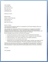 Pm Cover Letter Sample Cover Letter For Project Manager Position
