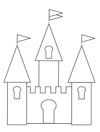 Castle on cliffs coloring page. Free Printable Castle Coloring Pages For Kids
