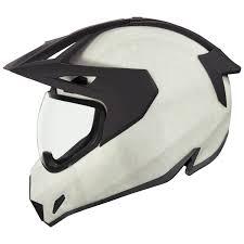 Icon Variant Pro Construct White Dual Sport Helmet 0101 12416