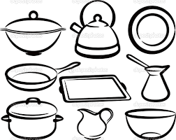 Drawing Of Kitchen Utensils ClipartXtras