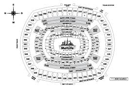 Ny Giants Seating Chart With Rows Seating Maps