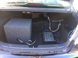 how to aftermarket subwoofer amp hyundai forums hyundai forum final install secured w velcro tape and clear hooks to guide wires