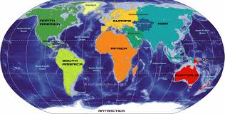 big map of continents of the world  nations online project