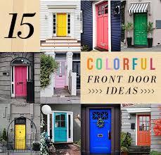 colored front doors15 Colorful Front Door Ideas  DesignSponge