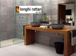 Mobili Bagno Legno Naturale : Mensola porta lavabi legno g
