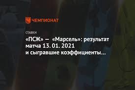 ПСЖ» — «Марсель»: результат матча 13.01.2021 и сыгравшие коэффициенты  букмекеров - Чемпионат