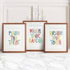 kids bathroom wall decor. Beautiful Kids Get All Three Of Our Popular Bathroom Printables Digital Downloads Not  Printed Art To Be Sent By Mail For The Price 2 After Purchase In Kids Bathroom Wall Decor Pinterest