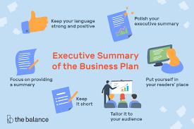 Executive Summary Executive Summary Of The Business Plan