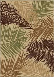orian rugs indoor outdoor leaves bungalow palms multi area rug 7 8