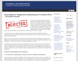 california commercial agency disclosures failing to comply leasing basics assignments subleasing and transfers part 3 grounds for denial
