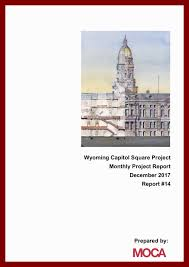 Wyoming Capitol Square Project Monthly Project Report December 2017 ...