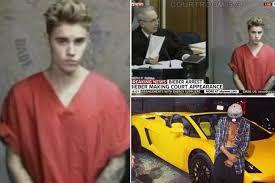 Online 'speeding Lambo - In Arrest Mirror At Justin 136mph' Bieber Before