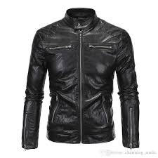 2017 new england style mens leather jackets high quality motorcycle punk leather jacket black size m 5xl jacket styles mens outerwear from charming smile