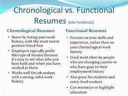 Functional Resume Vs Chronological 1