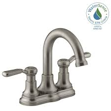 centerset 2 handle bathroom faucet in vibrant brushed nickel