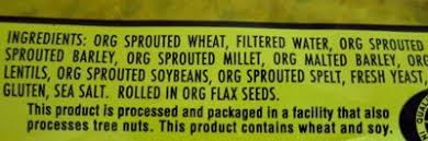 it is organic sprouted wheat which is when you take whole wheat berries and germinate them you just add water and let them grow a little bit then you use