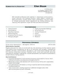 Entry Level Office Assistant Resumes Resume Sample For Executive Assistant Administrative Assistant