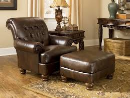 low maintenance durablend faux leather upholstery maintains the look of a family heirloom but is more conducive to homes