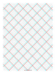 Printable 3d Paper 5x5 Grid With Large Offset