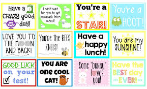 School Lunch Notes {FREE Printable!}