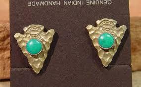 07 jewelry old old jewelry back earrings arrowhead motif with