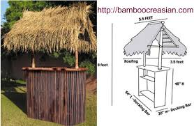 bamboo tiki bar sets with 2 stools hand constructed from high quality bamboo