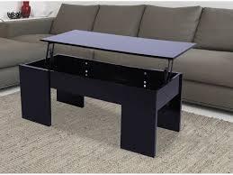 Table Basse Maria 100 X 50 X 43 55 5 Cm Noir 68024 68032