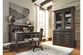 home office set. townser complete home office set with desk chair and credenza glass door hutch